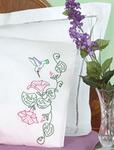 Hummingbird - Stamped Pillowcases With White Perle Edge 2/Pkg