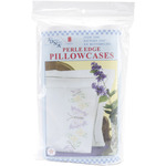Butterflies - Stamped Pillowcases With White Perle Edge 2/Pkg