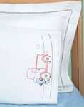 Old Truck Friend - Children's Stamped Pillowcase With White Perle Edge 1/Pkg