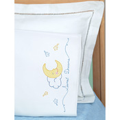 Sweet Dreams - Children's Stamped Pillowcase With White Perle Edge 1/Pkg