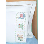 Froggy - Children's Stamped Pillowcase With White Perle Edge 1/Pkg