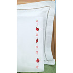 Ladybugs - Children's Stamped Pillowcase With White Perle Edge 1/Pkg
