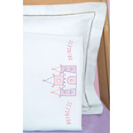 Princess - Children's Stamped Pillowcase With White Perle Edge 1/Pkg
