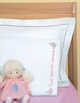 Little Girls - Children's Stamped Pillowcase With White Perle Edge 1/Pkg