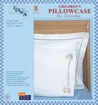 Little Boys - Children's Stamped Pillowcase With White Perle Edge 1/Pkg