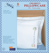 Little Boys - Children's Stamped Pillowcase With White Perle Edge 1/Pkg