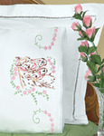 Mare & Colt - Stamped Pillowcases With White Lace Edge 2/Pkg