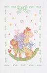 """Giraffe & Friends - Stamped White Quilt Crib Top 40""""X60"""""""