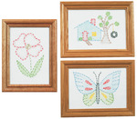 "Outside Fun - Stamped Embroidery Kit Beginner Samplers 6""X8"" 3/Pkg"