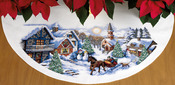 "45"" Round 11 Count - Sleigh Ride Tree Skirt Counted Cross Stitch Kit"