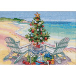 "7""X5"" 18 Count - Gold Petites Christmas On The Beach Counted Cross Stitch Kit"