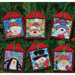 "4-1/2"" Tall 14 Count Set Of 6 - Christmas Pals Ornaments Counted Cross Stitch Ki"