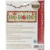 "5-3/4""X2-1/4"" 14 Count - Ho Ho Ho Ornament Counted Cross Stitch Kit"