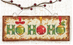 "5-3/4""X2-1/4"" 14 Count - Ho Ho Ho Ornament Counted Cross Stitch Kit"