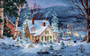"""20""""X14"""" 16 Count - Gold Collection Winter's Hush Counted Cross Stitch Kit"""