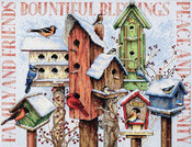 "18""X15"" 14 Count - Winter Housing Counted Cross Stitch Kit"