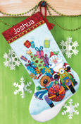 "16"" Long 14 Count - Santa's Sidecar Stocking Counted Cross Stitch Kit"