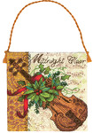 Gold Petites Violin Ornament Counted Cross Stitch Kit