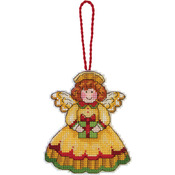 "Susan Winget Angel Ornament Counted Cross Stitch Kit-3-1/4""X3-3/4"" 14 Count Plas"