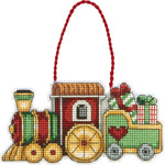 Train Ornament - Susan Winget Counted Cross Stitch Kit