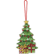 "Susan Winget Tree Ornament Counted Cross Stitch Kit-3""X4-3/4"" 14 Count Plastic C"