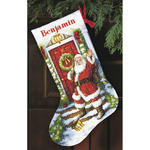 "16"" Long 14 Count - Gold Collection Welcome Santa Stocking Counted Cross Stitch"