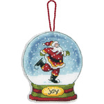 "3-3/4""X4-1/2"" 14 Count Clear Plastic - Joy Snowglobe Counted Cross Stitch Kit"