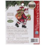 "Susan Winget Santa W/Bag Ornament Counted Cross Stitch Kit-3.5""X4.75"" 14 Count P"