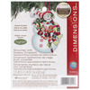 "Susan Winget Snowman W/Sweets Ornament Counted Cross Stitch -3.25""X4.5"" 14 Count"