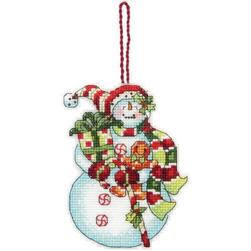 "Susan Winget Snowman Ornament Counted Cross Stitch Kit 3.25/""X4.5/"" 088677089153"
