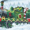 "10""X10"" 14 Count - Santa Express Counted Cross Stitch Kit"