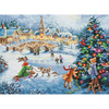 """16""""X12"""" 16 Count - Gold Collection Winter Celebration Counted Cross Stitch Kit"""