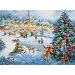 "16""X12"" 16 Count - Gold Collection Winter Celebration Counted Cross Stitch Kit"