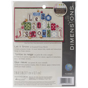 "7""X5"" 14 Count - Let It Snow Mini Counted Cross Stitch Kit"