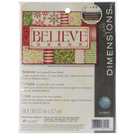 "7""X5"" 14 Count - Believe Mini Counted Cross Stitch Kit"