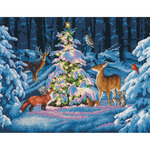 "14""X11"" 14 Count - Woodland Glow Counted Cross Stitch Kit"