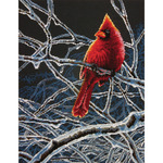 "11""X14"" 14 Count - Ice Cardinal Counted Cross Stitch Kit"