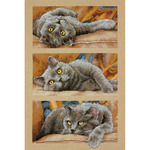 """10""""X15"""" 14 Count - Max The Cat Counted Cross Stitch Kit"""
