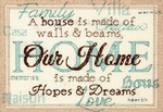 """7""""X5"""" 14 Count - Home Mini Counted Cross Stitch Kit"""