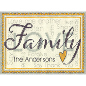 Family Mini Counted Cross Stitch Kit