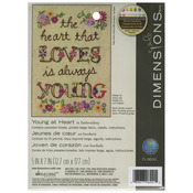 """5""""X7"""" Stitched In Thread - Young At Heart Mini Embroidery Kit"""