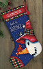 """16"""" Long Stitched In Wool & Thread - Snowman Perch Stocking Needlepoint Kit"""