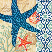 "14""X14"" Stitched In Wool & Thread - Starfish Needlepoint Kit"