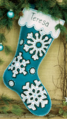 "19"" Long - Flurries Stocking Felt Applique Kit"