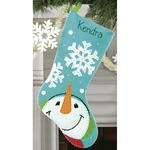 "19"" Long - Catching Snowflakes Stocking Felt Applique Kit"