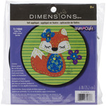 "Learn - A - Craft Little Fox Felt Applique Kit-6"" Round"