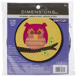"Learn - A - Craft Little Owl Felt Applique Kit-6"" Round"