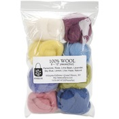 "Muted - Wool Roving 12"" .25oz 8/Pkg"