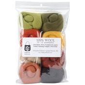 "Autumn - Wool Roving 12"" .25oz 8/Pkg"