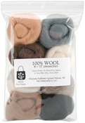 "Furry Friends - Wool Roving 12"" .25oz 8/Pkg"